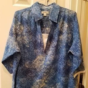 Pullover Top with 3/4 Sleeves